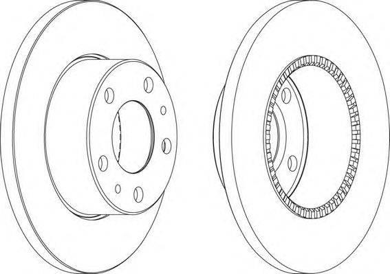 FERODO (НОМЕР: FCR196A) Тормозной диск