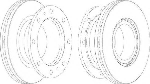 FERODO (НОМЕР: FCR241A) Тормозной диск