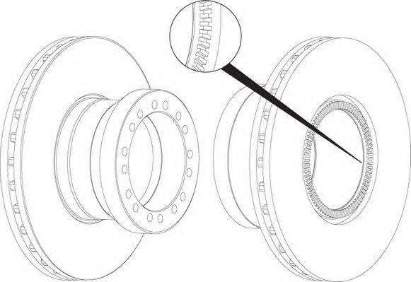 FERODO (НОМЕР: FCR256A) Тормозной диск