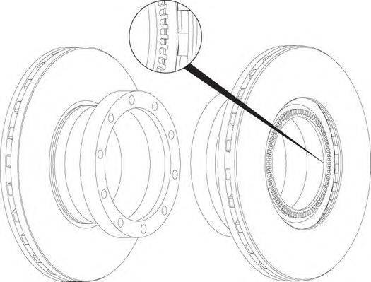 FERODO (НОМЕР: FCR258A) Тормозной диск