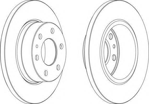FERODO (НОМЕР: FCR315A) Тормозной диск