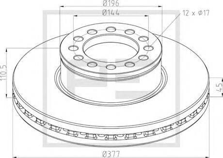 Тормозной диск PE Automotive 036.144-00A